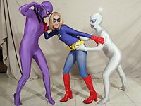 Blue Angel vs. Zentai Banditas 1! Featuring Orias, Nyssa Nevers and Julie